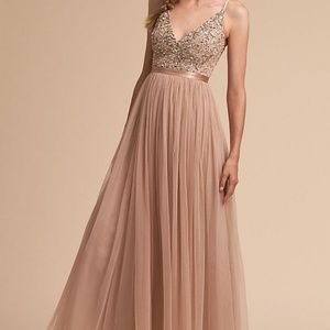 BHLDN Avery Bridesmaid Dress Beaded Blush 4